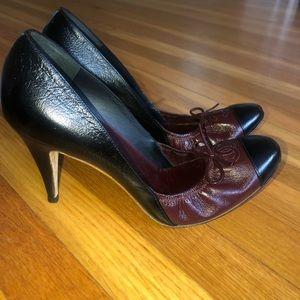 AUTHENTIC CHANEL ballet leather heel
